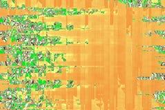 橙色和绿色抽象横幅背景 向量例证