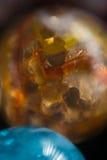 橙色和蓝色大理石16 免版税图库摄影