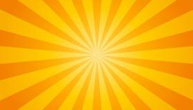 橙色和黄色镶有钻石的旭日形首饰的背景-传染媒介例证