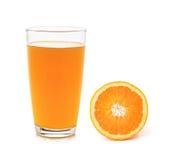 橙色和玻璃用汁液 免版税图库摄影