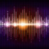 橙色和紫色数字式调平器背景 免版税库存照片