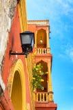 橙色和黄色阳台 免版税库存图片