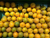 橙色商店市场 库存照片