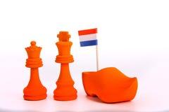 橙色国王和女王/王后 免版税库存照片