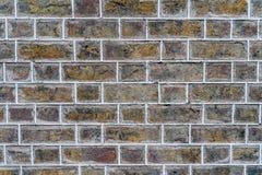 橙色土气砖墙-优质纹理/背景 免版税图库摄影