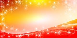 橙色圣诞节明亮的梯度背景 免版税库存照片