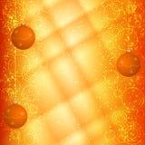 橙色圣诞节背景 免版税库存图片