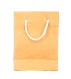 橙色在白色隔绝的桑树纸袋 免版税图库摄影
