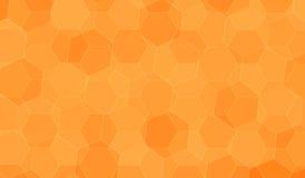 橙色多角形背景 免版税库存图片