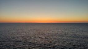 橙色天空的 免版税库存图片