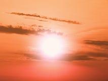 橙色天空 免版税库存图片