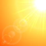 橙色太阳爆炸 向量例证