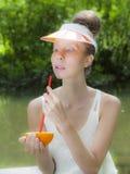 橙色夫人 免版税库存图片