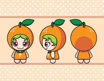 橙色女孩 免版税库存照片