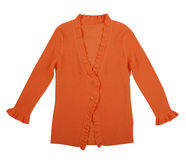 橙色女衬衫 免版税图库摄影