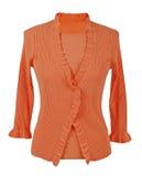 橙色女衬衫 免版税库存图片