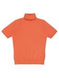 橙色女衬衫 免版税库存照片
