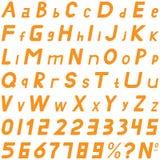 橙色字体中间倾斜的样式手工为商务使用 库存照片