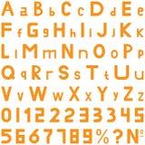 橙色字体中间样式手工为商务使用 免版税库存图片