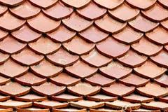 橙色屋顶样式 免版税库存照片