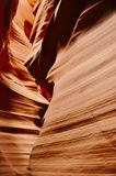 橙色岩层,更低的羚羊峡谷,美国 免版税库存图片