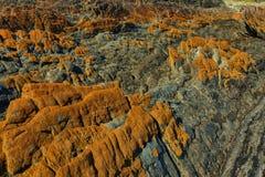 橙色岩石 库存图片
