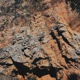 橙色岩石 库存照片