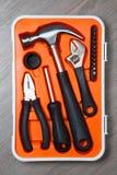 橙色工具箱子 免版税库存图片