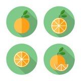 橙色平的象 免版税库存照片