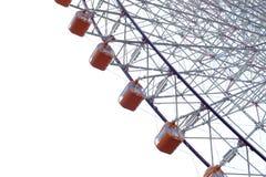 橙色弗累斯大转轮在大阪,日本 免版税库存照片