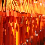 橙色微型门作为纪念品的待售 库存照片