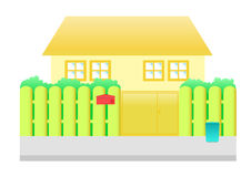 橙色房子动画片 库存照片