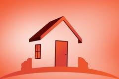 橙色房子的综合图象 库存照片