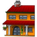 橙色房子 免版税库存照片