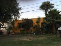 橙色房子 库存照片