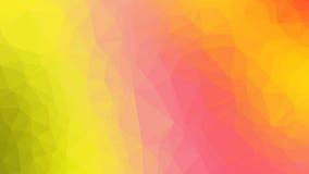 橙色抽象几何弄皱的三角低多样式例证图表背景 图库摄影