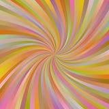 橙色抽象多色螺旋光芒背景 免版税图库摄影