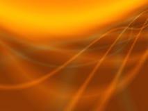 橙色抽象棕色的灯光管制线 向量例证