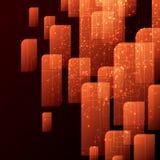 橙色抽象模板 向量例证