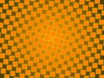 橙色抽象背景,金正方形 免版税库存照片