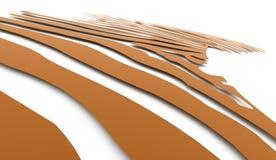 橙色抽象转弯灯光管制线 免版税库存照片