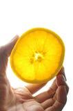 橙色挑库切了  库存图片