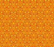 橙色摘要卷曲无缝的模式 库存照片