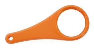 橙色放大镜 免版税库存照片