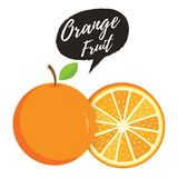 橙色整体和切片桔子 向量例证