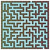橙色方形的迷宫 免版税图库摄影