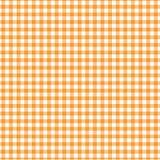 橙色方格花布 库存图片