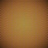 橙色无缝的圈子穿孔的格栅纹理 库存照片