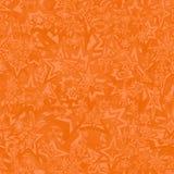 橙色无缝的特征模式 免版税库存照片