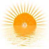 橙色日落 库存图片